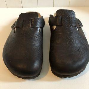Birkenstock's clogs, Size 41 Dark Brown, leather